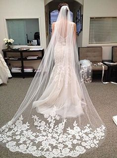 Barato Hot Sale catedral véus de noiva casamento véu Birdcage apliques véu de marfim laço longo véu de noiva 3 metro, Compro Qualidade Véus de Noiva diretamente de fornecedores da China:   5                         Vestidos de casamento                                       Noite & Prom Vestidos
