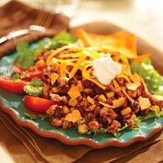 Raspberry Turkey Taco Salad from Smucker's®