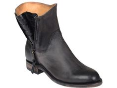 Harper | Lucchese Women's Booties | Stonewash Leather in Black #Lucchese