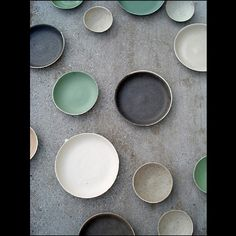 color palette - grays, cream, white, black, tan, a tiny bit of greenish and gold.
