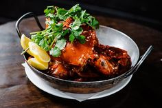 Join us for lunch and try our Singapore chilli #mudcrab at Kingsleys.  #seafood