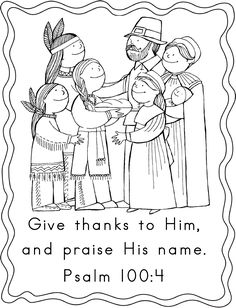 Thanksgiving Coloring Pages with Scripture for Kids Table at Thanksgiving