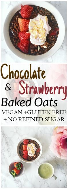 Chocolate and Strawberry Baked Oats Recipe