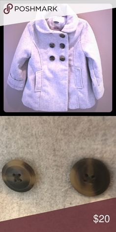 Gray heather pea coat for kids/toddler. 3T Light gray pea coat for toddler/kids. 3T, Old Navy Old Navy Jackets & Coats Pea Coats