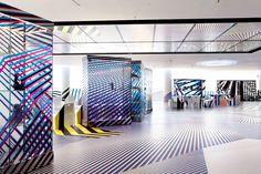 Stefan Diez Office - Tobias Rehberger: Bent I like that! Floor Graphics, Window Graphics, Corporate Interiors, Office Interiors, Tobias Rehberger, Office Graphics, Environmental Design, Environmental Graphics, Scale Design