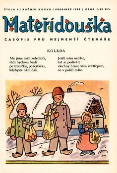 Josef Lada's illustration on cover of than most popular magazine among the… Popular Magazine, School Clubs, Retro Party, My Heritage, Whimsical Art, Czech Republic, Vintage Children, Childhood Memories, Illustrators
