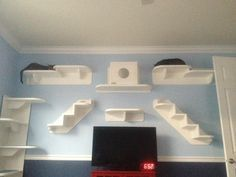 DIY Wall Cat Perches | Tale of Two Kitties and their Cat Wall System
