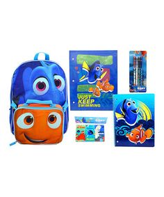 This Finding Dory Back-to-School Backpack Set is perfect! #zulilyfinds