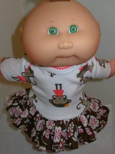 Cabbage Patch NEWBORN Doll Clothes Little MONKEY by SewCuteDolly - Julia