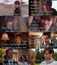 Comments between Ty and Amy various seasons