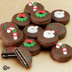 Delicious Christmas cookies. #christmascookies chocolates, christma gift, chocol cover, chocolate covered oreos, cover oreo, christma chocol, flowers, cookies, christmas gifts