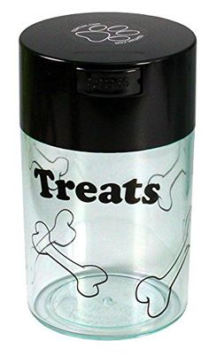 Pawvac 6 Ounce Vacuum Sealed Pet Food Storage Container Black Cap  Clear BodyBlack Treats ** You can get additional details at the image link. (Note:Amazon affiliate link) Pet Food Storage, Nursing Supplies, Cat Training Pads, Cat Id Tags, Cat Shedding, Cat Fleas, Flea And Tick, Cat Grooming, Dog Snacks
