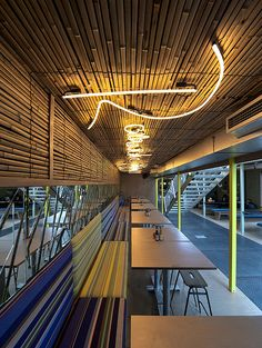 Wahaca southbank experiment: Shipping container restaurant designed by Softroom Architects, London, UK Container Home Designs, Container Bar, Riverside Restaurant, Restaurant Plan, Restaurant Design, Resturant Menu, Shipping Container Restaurant, Shipping Container Design, Shipping Containers