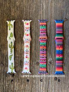 Apple Watch Band Western Style - Watch - Ideas of Watch - Apple Watch Band Cactus Serape Cowskull Ropes and Rhinestones Cute Apple Watch Bands, Apple Watch Bands Fashion, Apple Band, Apple Watch Accessories, Fashion Accessories, Silver Pocket Watch, Apple Watch Series 1, Apple Products, Cool Watches