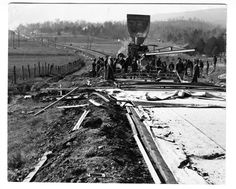 Dixie Highway. Building the road to Trenton, Georgia, one of the first parts of the Dixie Highway around Chattanooga. 1920