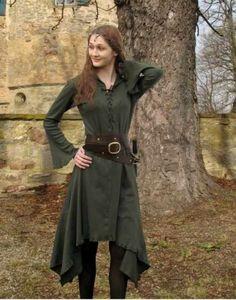 Liked on Pinterest: KOSTÜMTRUHE | Verkauf & Versandhandel mittelalterliche Kleidung Kostüme & Gewandungen Zubehör aus Ritterzeit und Piratentum - Elfenkleid Sweater mit Kapuze lang