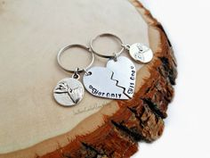 His One Her Only Key Chains Love Long by SouthernComfortZone