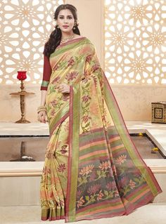 Light Green Art Silk Saree With Blouse 90942
