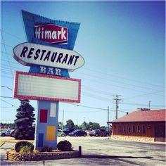 The Himark restaurant & bar in #kokomo has a great retro sign.