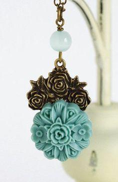 Sea Foam Jewelry, Cameo Necklace