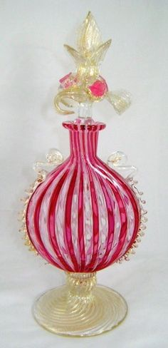 Venetian Art-Glass Perfume Bottle ♥★♥GORGEOUS♥★♥