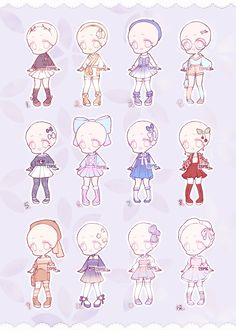 Outfit Adopts- [Closed] by BugTM on DeviantArt Kawaii Chibi, Cute Chibi, Kawaii Drawings, Cute Drawings, Drawing Reference Poses, Art Reference, Drawing Anime Clothes, Clothing Sketches, Cute Art Styles