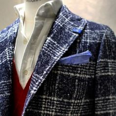 BOUCLE check pattern fabric by RING JACKET