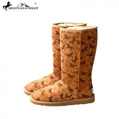 Horse & Horseshoe Women's Winter Boots