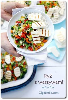 Rice with vegetables recipes - Rice with vegetables recipe Vegetable Rice, Vegetable Recipes, Rice Recipes, Feta, Cheese, Vegetables, Drink, Recipes