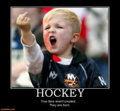 born and bred hockey fan right here! Gotta love this kid! You tell em. LOL