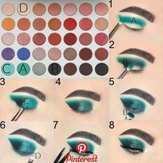 Faded Makeup Set Step By Step Jaclyn Hill Palette Looks Faded Makeup MakeupSetSimple makeuptalk Set Step Contour Makeup, Makeup Set, Makeup Inspo, Eyeshadow Makeup, Makeup Tips, Makeup Ideas, Teal Makeup, Makeup Brushes, Free Makeup