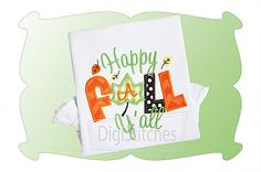 Happy Fall Yall Applique