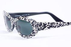 "Very Rare Runway CHANEL ""CC""  Sunglasses 1990"