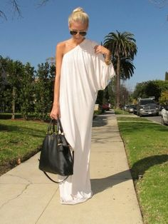 Simply amazing one shoulder white dress
