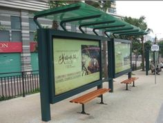 bus stop billboard installation - Google Search