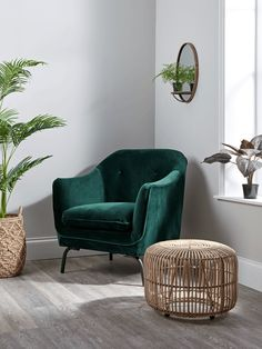 NEW Forest Green Velvet Occasional Chair - Luxury Chairs - Luxury Seating - Luxury Home Furniture furniture living room Beige Living Rooms, Living Room Green, Bedroom Green, Green Rooms, Living Room Chairs, Home Living Room, Living Room Decor, Lounge Chairs, Dining Chairs
