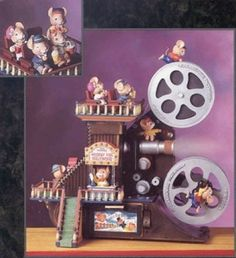 Sale Lighted illuminated Multi Action Mice Musical Enesco Paramouse Hooray For Hollywood Replica Antique Movie Projector Animated