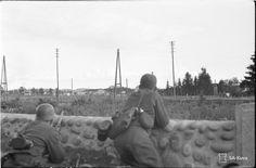 Finnish soldiers cautiously approach Sortavala, 10 August 1941. Korean War, Axis Powers, Vietnam War, Military History, World War Two, Soldiers, Ww2, Winter, Diesel