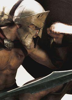 Michael Fassbender as Stelios - 300 Spartan Warrior, Spartan Shield, Spartan Race, 300 Movie, Rodrigo Santoro, Roman Warriors, Greek Warrior, Roman Fashion, Rome