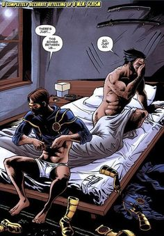 X-Men: Schism. This may or may not have actually happened.