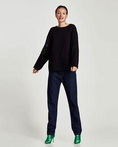 Image 1 of CONTRAST SWEATSHIRT from Zara