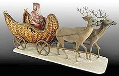Image detail for -Belsnickle Santa Claus in wicker sleigh with reindeer, Germany, circa . German Christmas, Old Fashioned Christmas, Christmas Makes, Christmas Past, Victorian Christmas, Vintage Christmas Ornaments, Father Christmas, Christmas Candy, Rustic Christmas