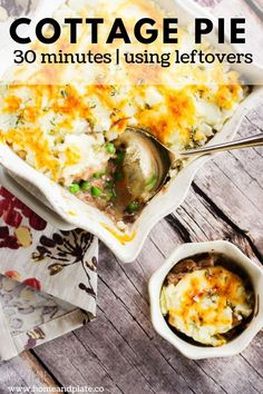 Turn last night's leftovers into a classic cottage pie in 30 minutes. It's the ultimate comfort food this fall. Beef Brisket Recipes, Smoked Beef Brisket, Brisket Meat, Pork Recipes, Yummy Recipes, Cottage Pie Recipe Beef, Casseroles, Leftover Roast Beef, Midweek Meals