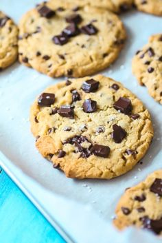 ... | Chocolate chip cookies, Chocolate chunk cookies and Chip cookies