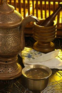 Saffron tea or kehwa- kashmir Saffron Tea, Srinagar, Drinking Tea, Handicraft, Type 1, Kettle, Tea Pots, Beverages, Cups