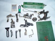 singer machines  accessories  pinterest  | Singer Featherweight sewing machine 221 w/case accessories - Machines
