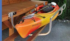 Dock Side Cradle - The easy way to get in and out of your kayak or canoe when you lack beach area!