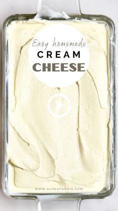 Homemade Cream Cheese Recipe, Cream Cheese Recipes, Mexican Food Recipes, Snack Recipes, Cooking Recipes, Home Made Cream Cheese, Fromage Vegan, Diy Food, Homemade Food