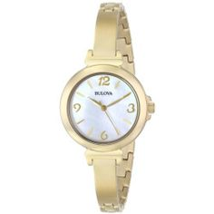 Bulova Women's Stainless Steel Bangle Bracelet Watch - Gold