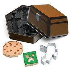 Sarah I think I figured out what to make for your next girl's birthday party. ThinkGeek :: Minecraft Cookie Cutters